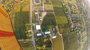 Hot Air Balloon Ride in Michigan Erwins Orchards and Corn Maze with Basket 9-29-14