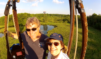 Hot Air Balloon Flight in Michigan