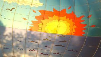 Sun from inside balloon