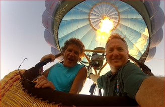 Tom & Scott in Flight Burner Going 6-6-14