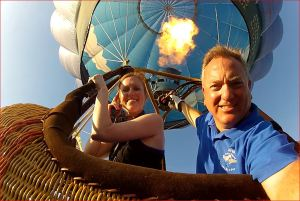 NPR Reporter Rebecca w Flame Bird Watching Balloon Rides in Michigan